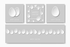 Greeting happy easter paper cards.