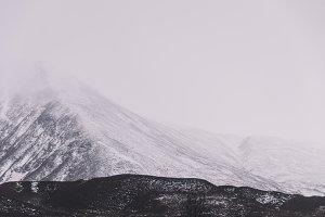 Minimal Mountain Landscape in Winter