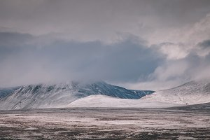 Winter Snow Clouds over Mountains