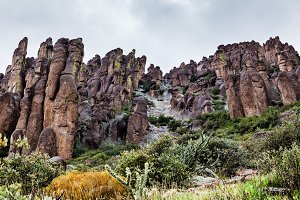 Rocky Landscape In Desert