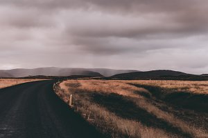 Moody Landscape with Rural Road