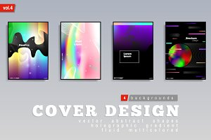 Abstract Multicolored Covers