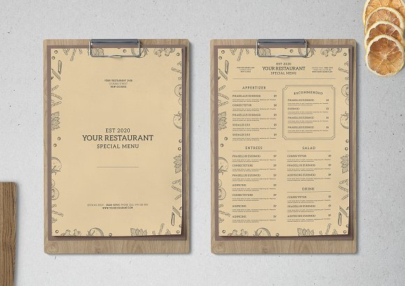 Food Menu Vol 2