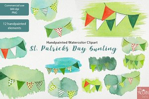 St Patricks Day Bunting clipart PNG