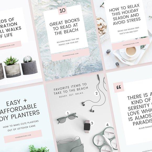 Light Pinterest Templates