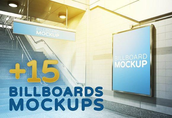 Billboards In Subway Mockups V.3 #R