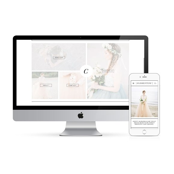 Clementine- Showit Website Template
