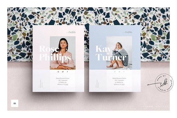 rose creative portfolio brochure templates creative market