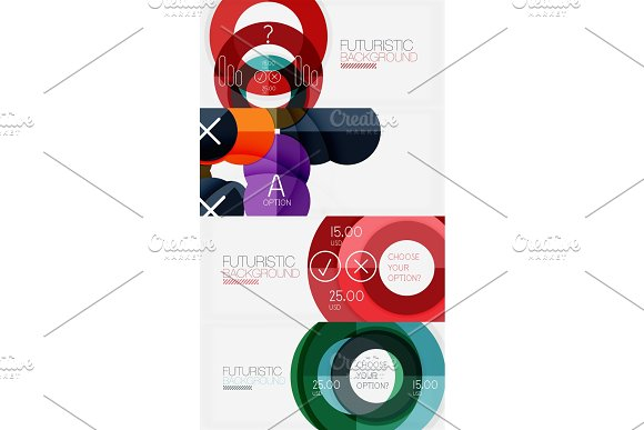 Set Of Minimalistic Geometric Banners With Triangles And Circles And Other Shapes Web Design Or Business Slogan Presentation Templates