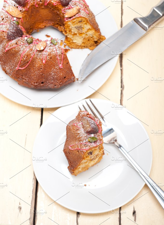 festive chestnut dessert cake 003.jpg - Food & Drink