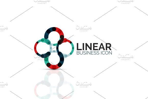 Abstract Flower Or Star Linear Thin Line Icon Minimalistic Business Geometric Shape Symbol Created With Line Segments