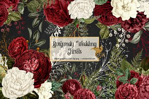 Burgundy Wedding Florals