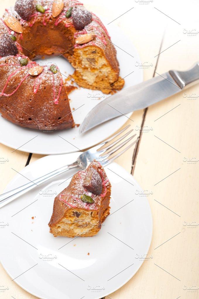 festive chestnut dessert cake 011.jpg - Food & Drink