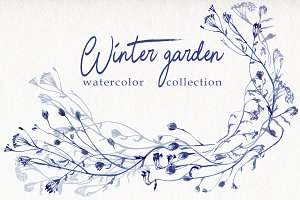 The winter garden watercolor collect