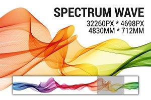 Abstract vector spectrum wave.