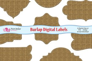 Burlap Digital Labels