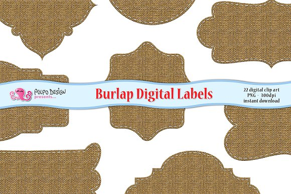 Burlap Digital Labels