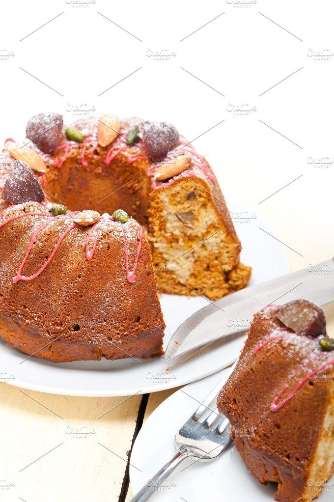festive chestnut dessert cake 024.jpg - Food & Drink