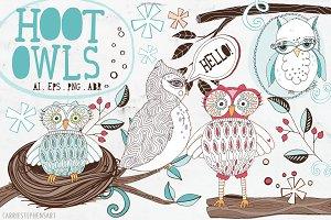 Hoot Owls ClipArt - PNG & Vector