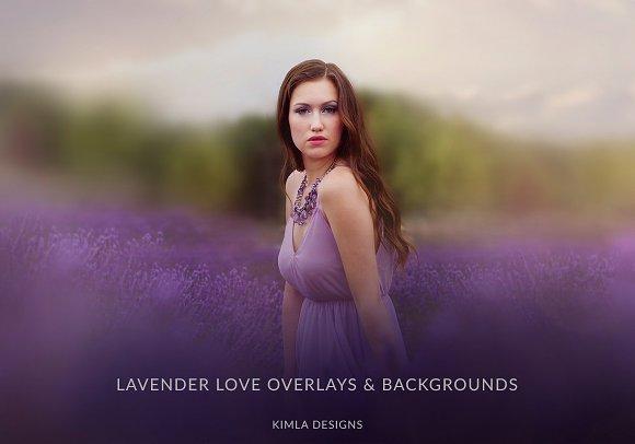 Lavender Love Overlays Backgrounds