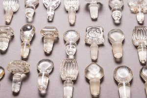 Lot of antique glass bottle stoppers