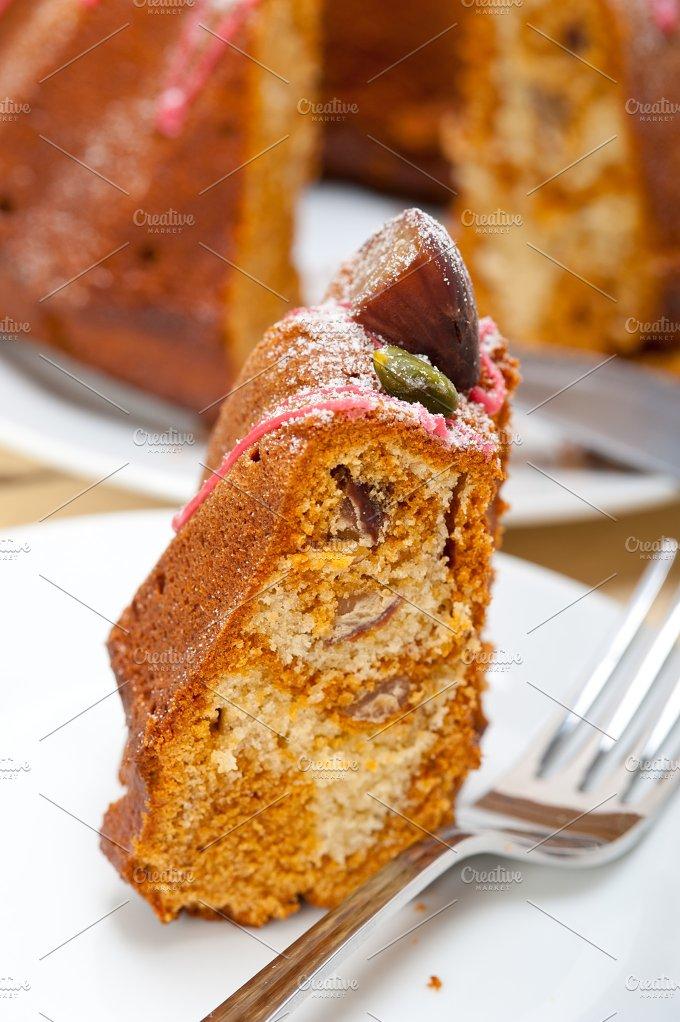 festive chestnut dessert cake 053.jpg - Food & Drink