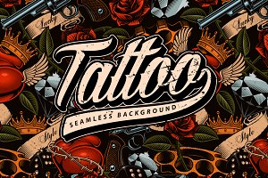 Tattoo seamless background