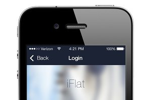 Flat iPhone App Template