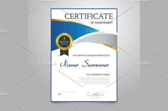 Certificate Vertical Elegant Vector Document
