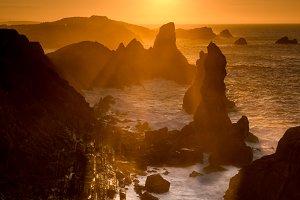 Sunset at Cantabrian coast
