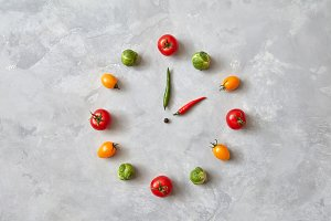 watches made from tomatoes and Brussels sprouts