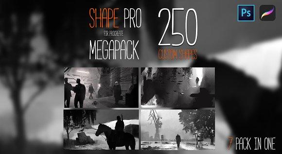 SHAPE MEGAPACK PROCREATE PHOTOSHOP