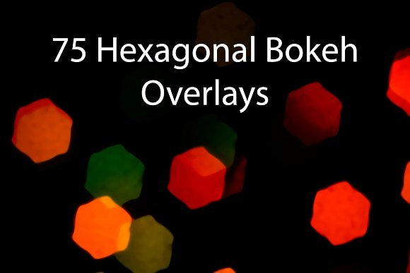 75 Hexagonal Colors Overlays
