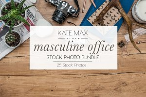 Masculine Office Stock Photo Bundle