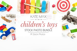 Children's Toys Stock Photo Bundle