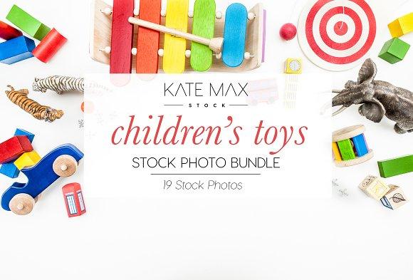 Children's Toys Stock Photo Bundle