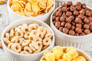 Various breakfast cereal