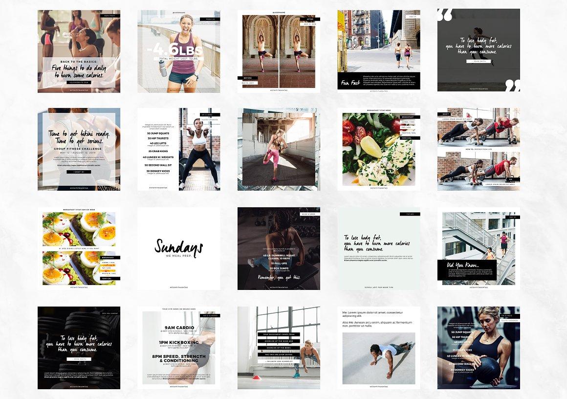 Fitness Modern Social Pack