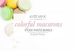 Colorful Macarons Stock Photo Bundle