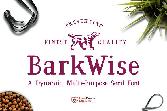 BarkWise Multi-Purpose Serif Font