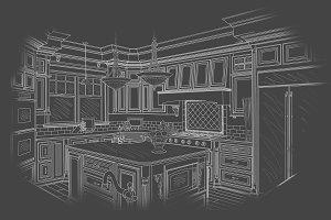 Beautiful Custom Kitchen Design Draw