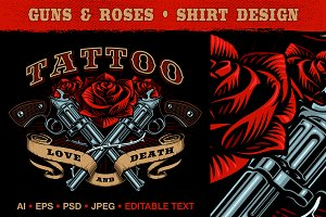 Guns and Roses design