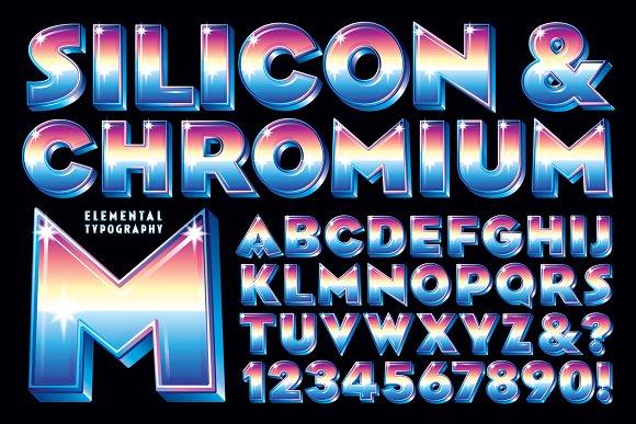 Lettering Design Silicon Chromium