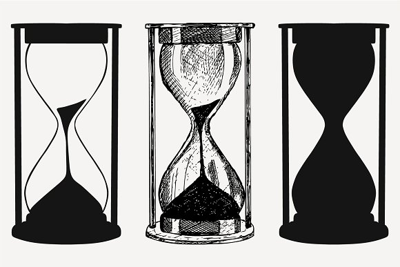 hourglass vector SVG DXF PNG DXF