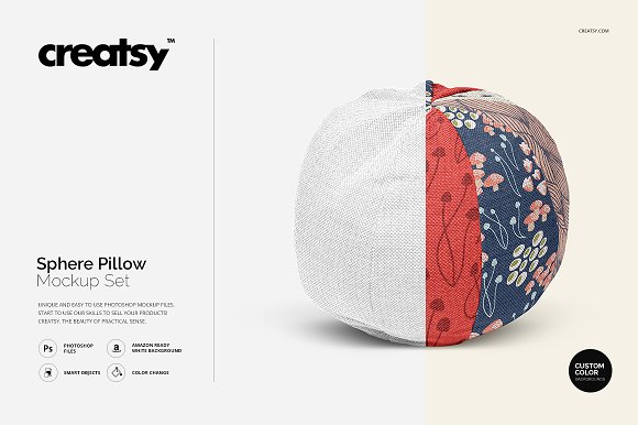 Sphere Pillow Mockup Set