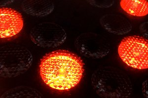Close up of a LED light lamp