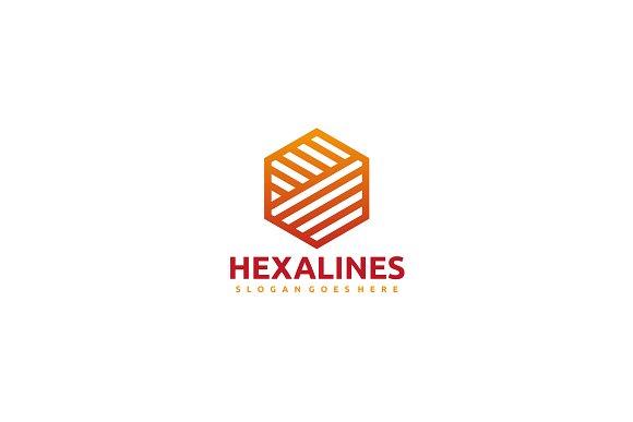 Hexagon Lines Logo