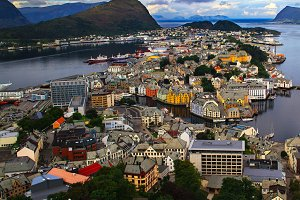 Alesund From Aksla Hill. Norway.