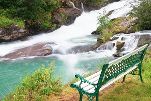 Bench Overlooking a River
