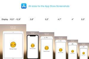 App Store Screenshots - PSD Mockup